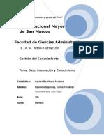 Conceptos y Diferencias sobre Dato, Información y Conocimiento
