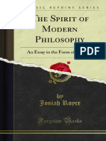 The Spirit of Modern Philosophy 1000095361
