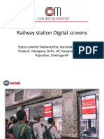 2e2a7cac50605 Presentation of Digital Screen at Railway Ticket Counters