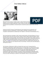 Bertrand Russell - Free Online Library