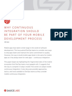 Why CI Should Be Part of Your Mobile Dev Process-A Sauce Labs Report