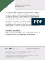 Williams R-Hacia Una Sociología de La Cultura - Cap 8 Organizacion (Pag 193)
