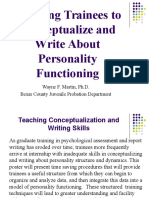 APPIC 2009 Poster - Teaching Trainees to Conceptualize and Write About Personality Functioning