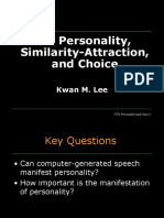 TTS Personality and Choice