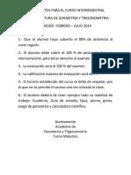 Guia de Estudio Geometria y Trigonometria 2015