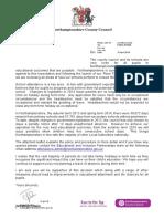 Attendance Letter