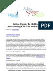 Autism Disorder in Children - Understanding Kids With Autism Disorder