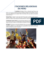 Manifestaciones Religiosas en Perú
