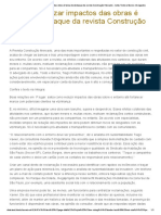 Como Minimizar Impactos Das Obras é Tema de Destaque Da Revista Construção Mercado - Leite, Tosto e Barros Advogados