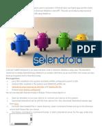 Selendroid Eclipse Setup