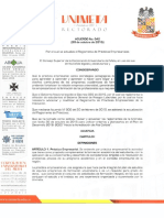 Acuerdo 042 de 2015 Reglamento de Prácticas Empresariales Unimeta
