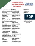 Id Career Expo Jakarta 8-9 Jan 16