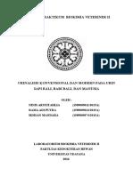 Laporan Praktikum Biokimia Veteriner II