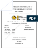 "DEEPAKA ""STUDY ON ROLE AND SIGNIFICANCE OF MUTUAL FUND FOR RETAIL INVESTORS"""