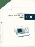 Osciloscopio Caltek 9020 Manual Ingles 9000
