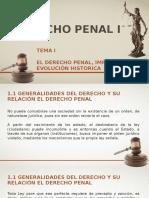 Tema I El Derecho Penal