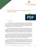 Monográfico. Blogs y Marca Personal - Mi Experiencia Con La Criatura Creativa