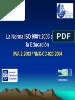 La Norma ISO 9001-2000 Aplicada a La Educacion