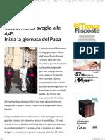 Casa S. Marta, Sveglia Alle 4,45 Inizia La Giornata Del Papa - Cronaca Buenos Aires
