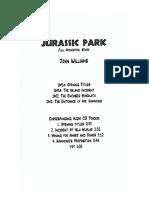 Jurassic Park Full Orchestral Score (Handwritten)