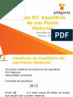 AULA 02 Equilibrio de Um Ponto Material 20150825140052 (1)