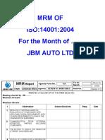 Mrm Template Jbma 14001