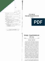 Études Traditionnelles 1965