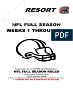 2016 NFL season point spreads