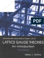 Rothe H.J.; Lattice Gauge Theories an Introduction