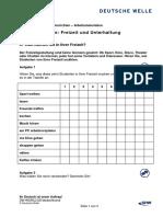 01 Was Machen Sie in Ihrer Freizeit PDF