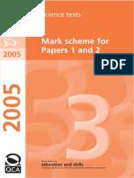 Key Stage 3 Ks3 Science MarkScheme 2005