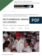 04-18-2016 Neto Robinson, Arrancó Con Los Jovenes