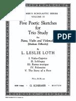 Loth 5PoeticSketchesforTrioStudy Scoreparts
