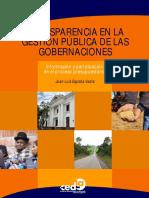 Transparencia en la gestión pública de gobernaciones en Bolivia