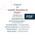 A Report on The Death Penalty