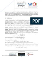 Multiplicative Number Theory