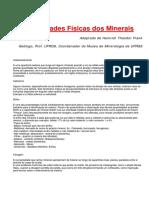 Mineralogia - Propriedades Dos Minerais