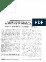 Mainwaring y Shugart 2002 Presidencialismo y Sist de Partidos en AL Conclusiones Libro