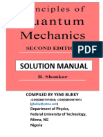Shankar Quantum Mechanics Solution