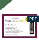 Certificado Don Diego Cabernet