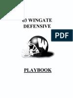 Excellent Program Outline 2003 Wingate Defense