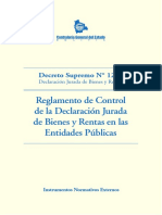 Decreto Supremo N° 1233__Declaración Jurada de Bienes y Rentas