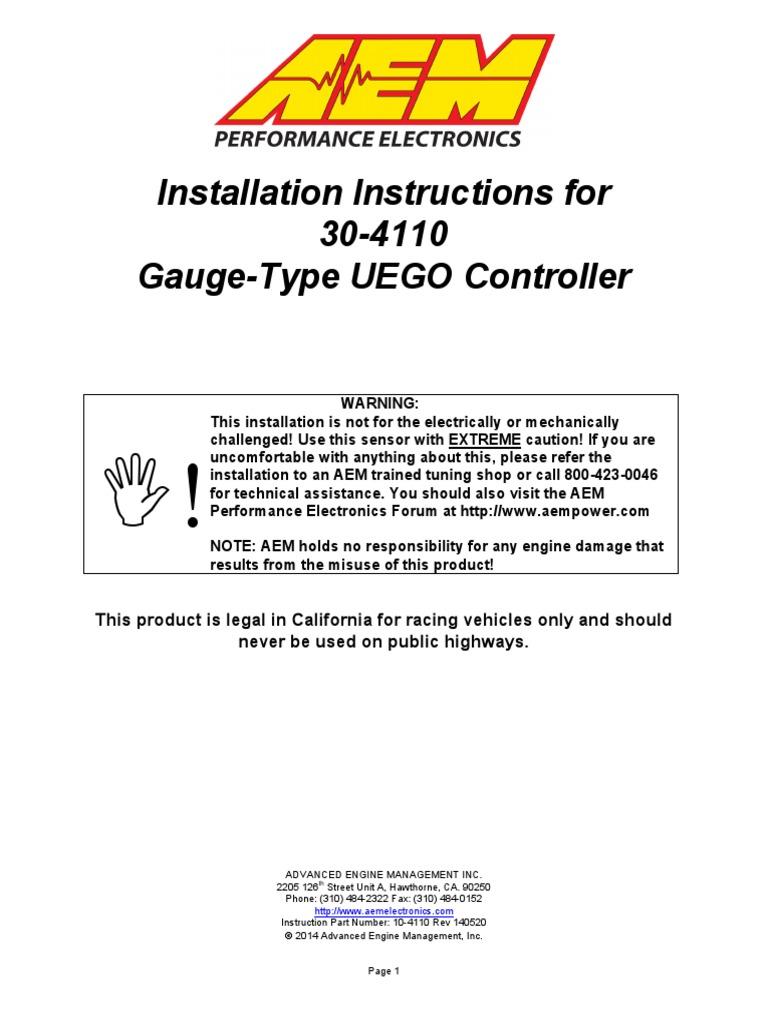 Digital Wideband UEGO Gauge | Manufactured Goods | Technology