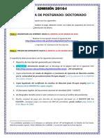Informacion 2016-i - Doctorado - Requisitos