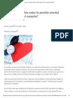 Relación entre presión arterial alta y salud del corazón