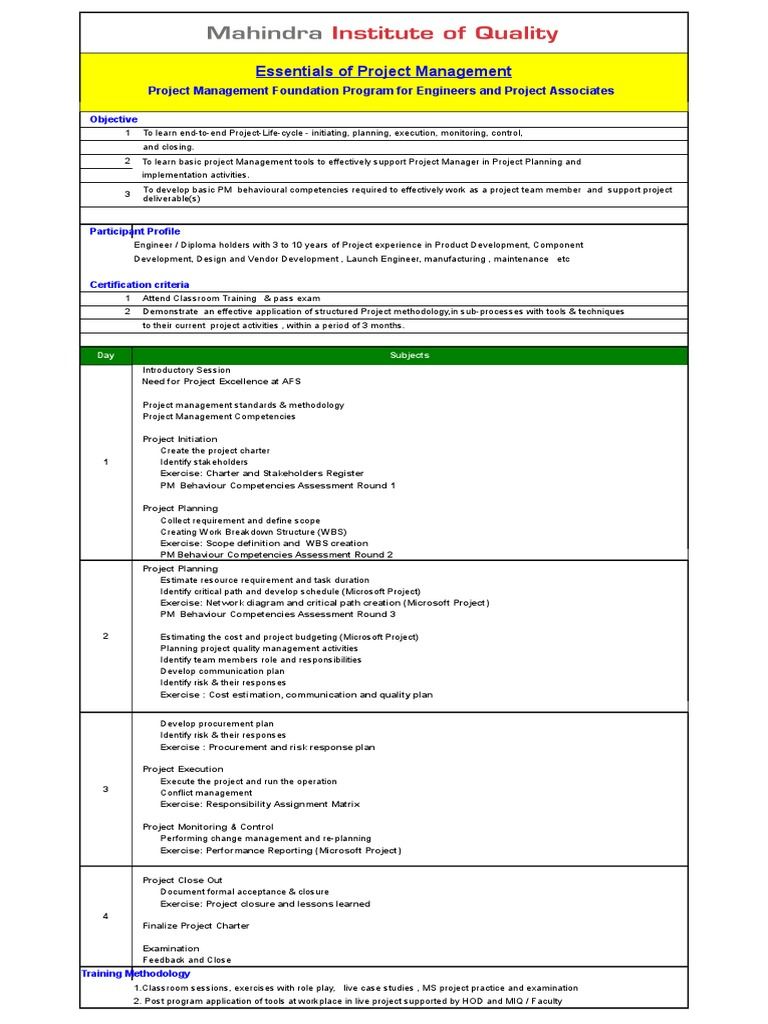 Ngcng Project Management Business