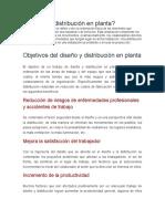 Qué Es La Distribución en Planta