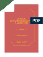 Husserl Edmund Crise Da Humanidade Europeia