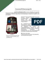 Laborkoffer mit Kunststoff-Erkennungs-Kit