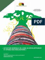 Situation générale de l'aide au développement et aperçu des réalisations